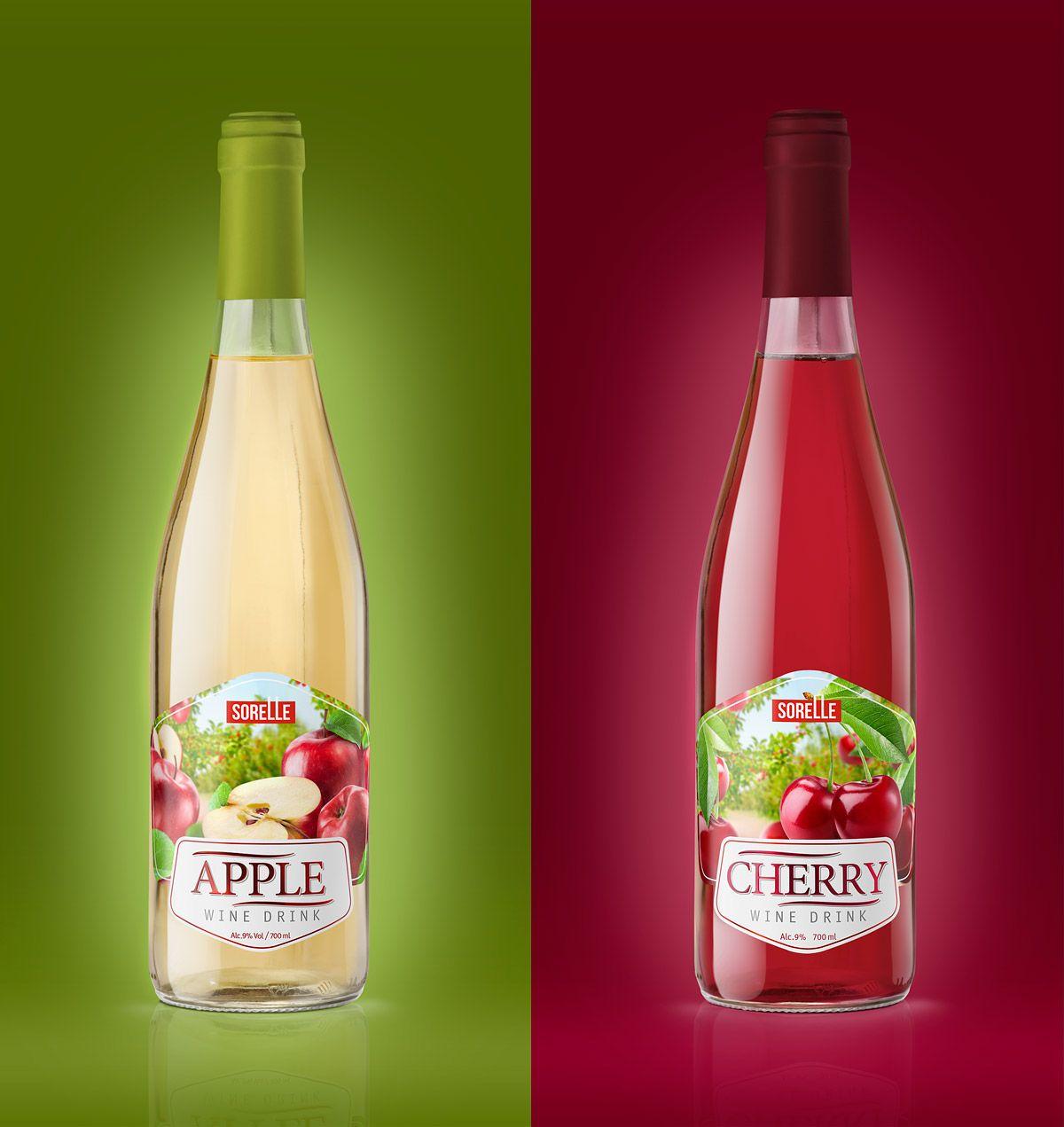 Label Design For Series Of Sorelle Wine On Behance Wine Label Design Cherry Wine
