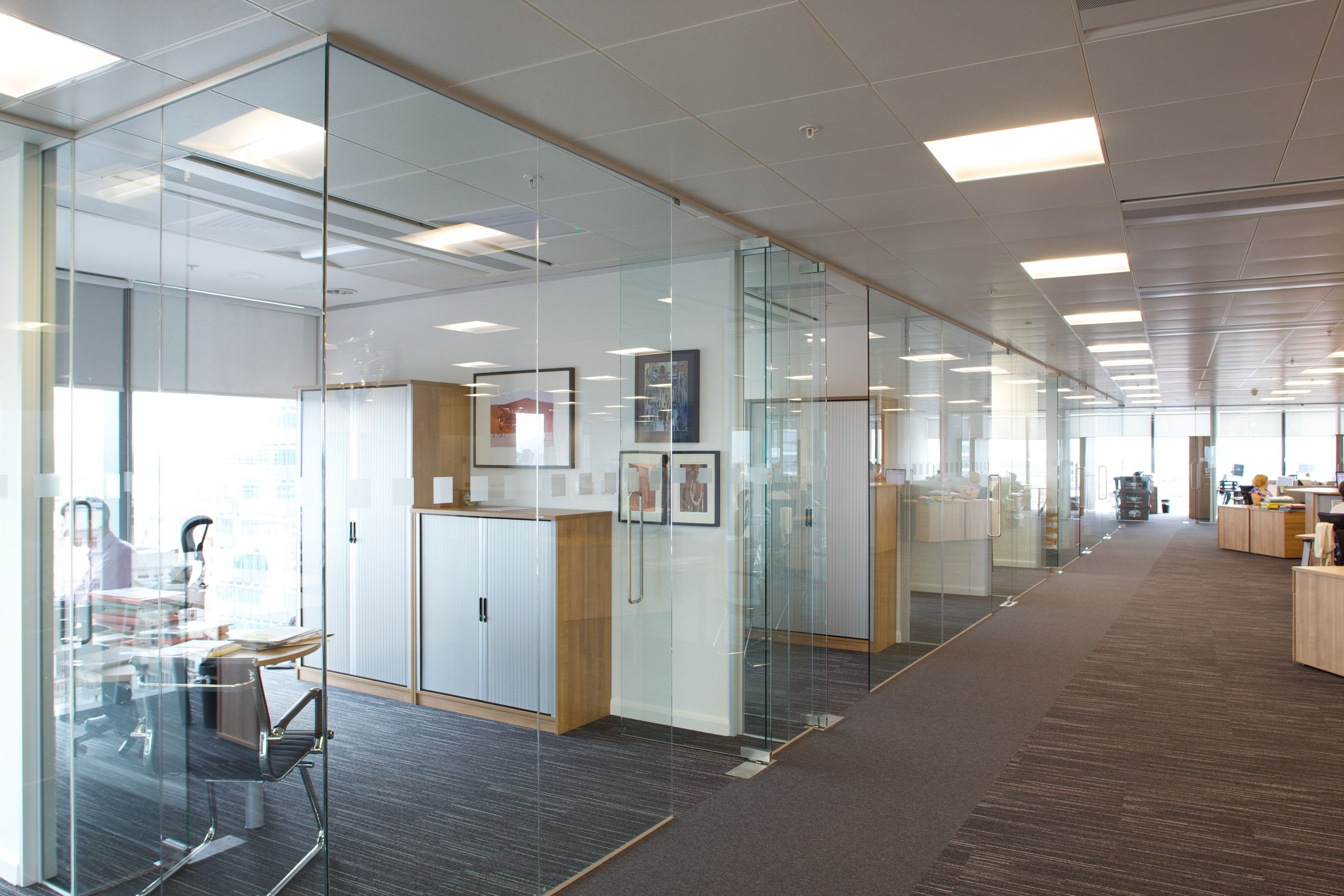 Enhance your space with glass office and carpet go to www for Modern corporate office design