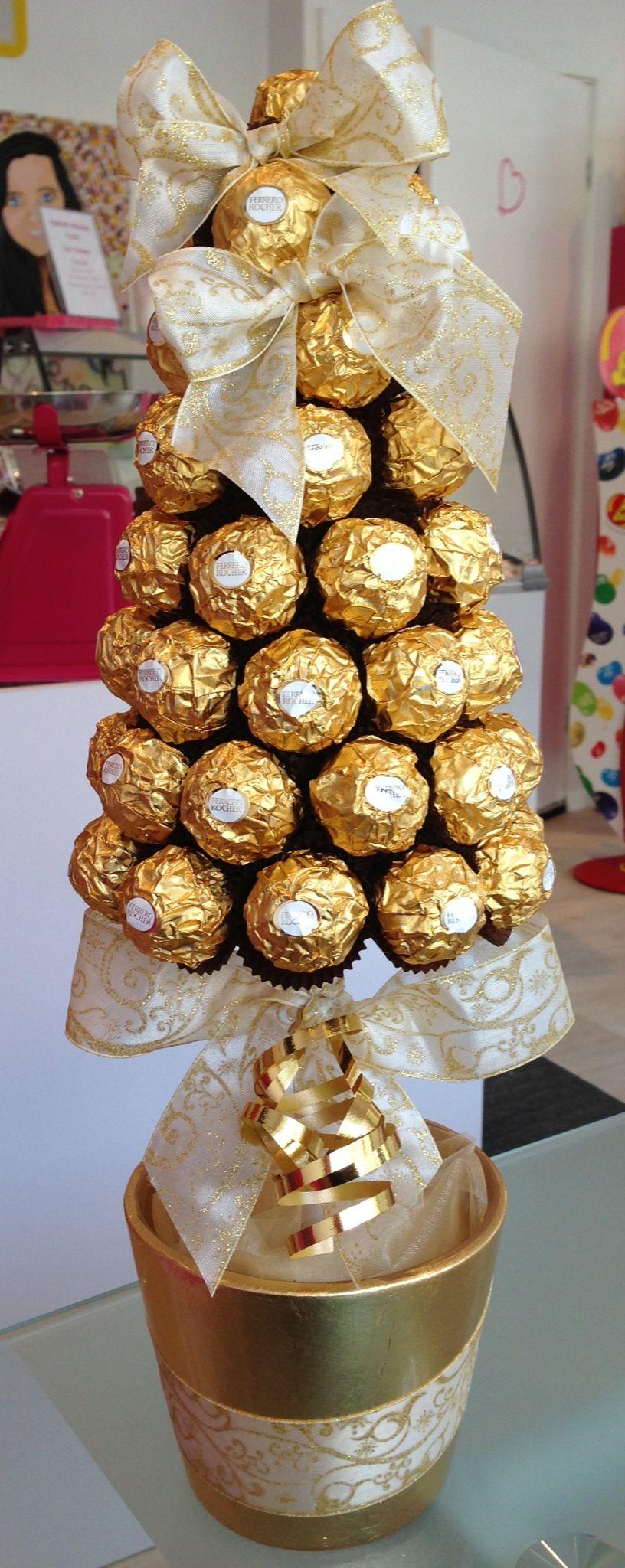Ferrero Rocher Cone Tree, £30.00 | Подарки, Рождественские ...