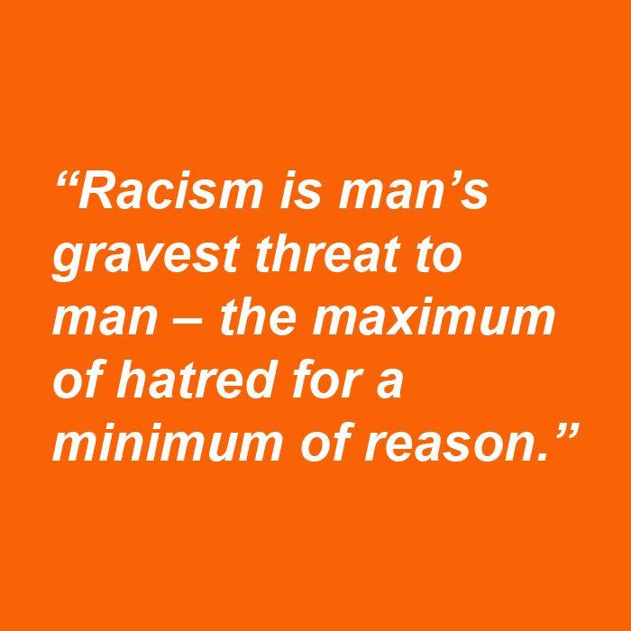 Arguing against racism