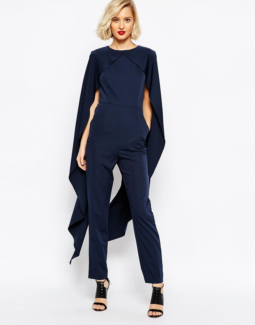 c8b97210aa Image 1 of Lavish Alice Cape Detail Jumpsuit