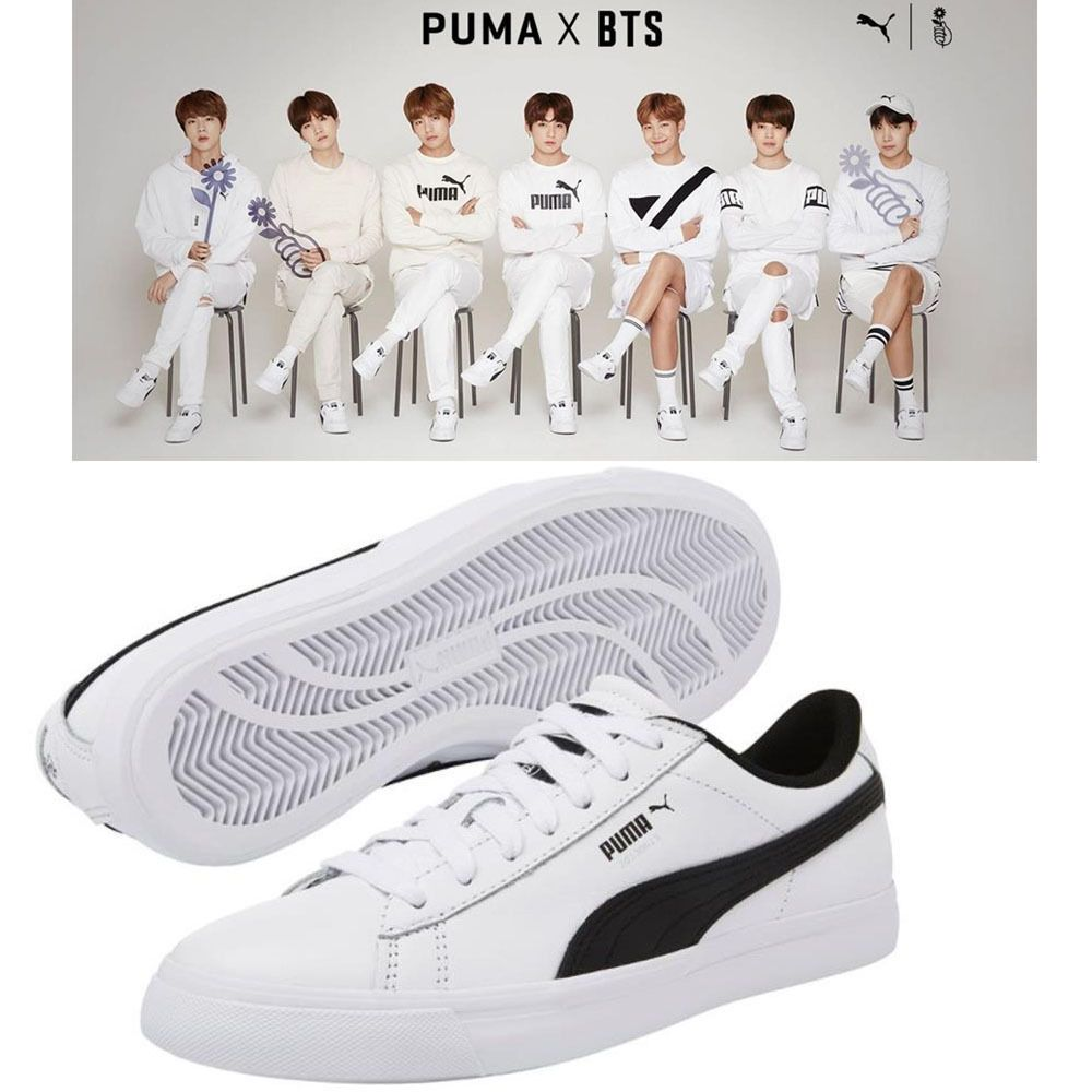 BTS BANGTAN BOYS x PUMA Collaboration Court Star Shoes ( No Photo ... 80e625826
