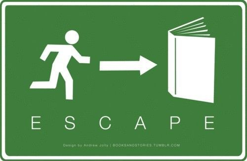 Escape into a book!  Yesssss!!!