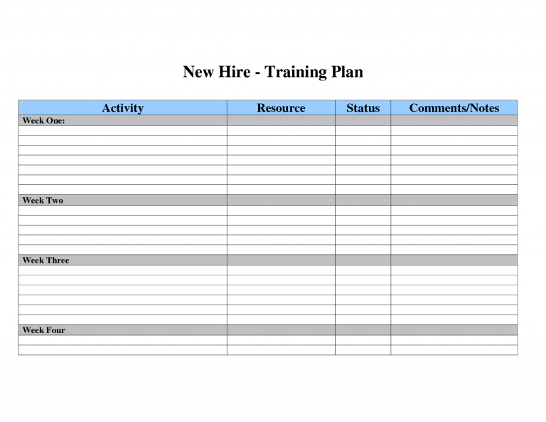 Employee Development Plans Templates Employee Training Plan Template Qvvzskc Workout Plan Template Employee Development Plan Employee Training