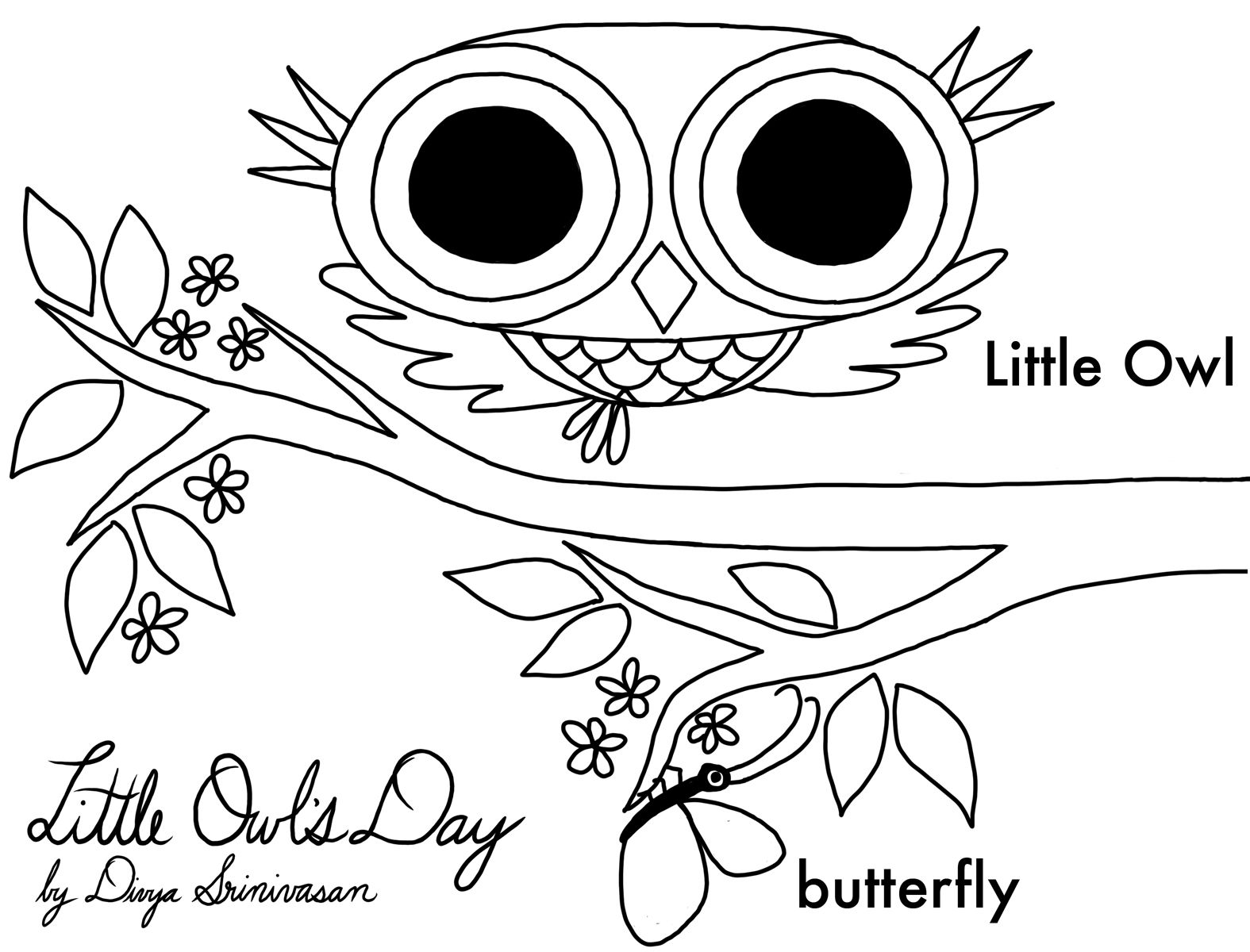 Print about these adorable LITTLE OWL'S DAY coloring pages