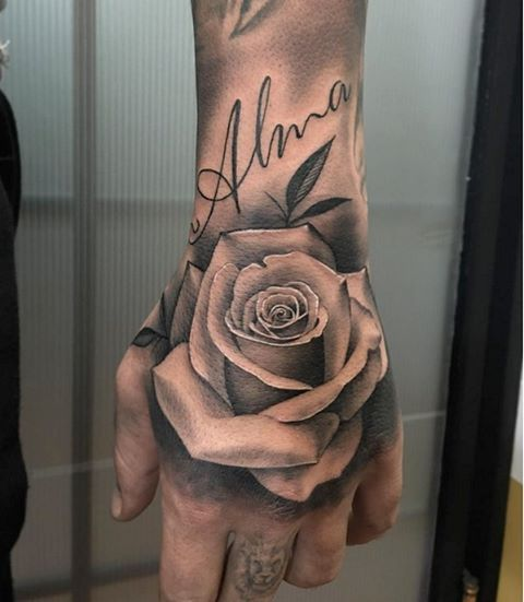 5fb218fd0 Hand rose | Tattoos | Hand tattoos, Rose hand tattoo, Hand tattoos ...