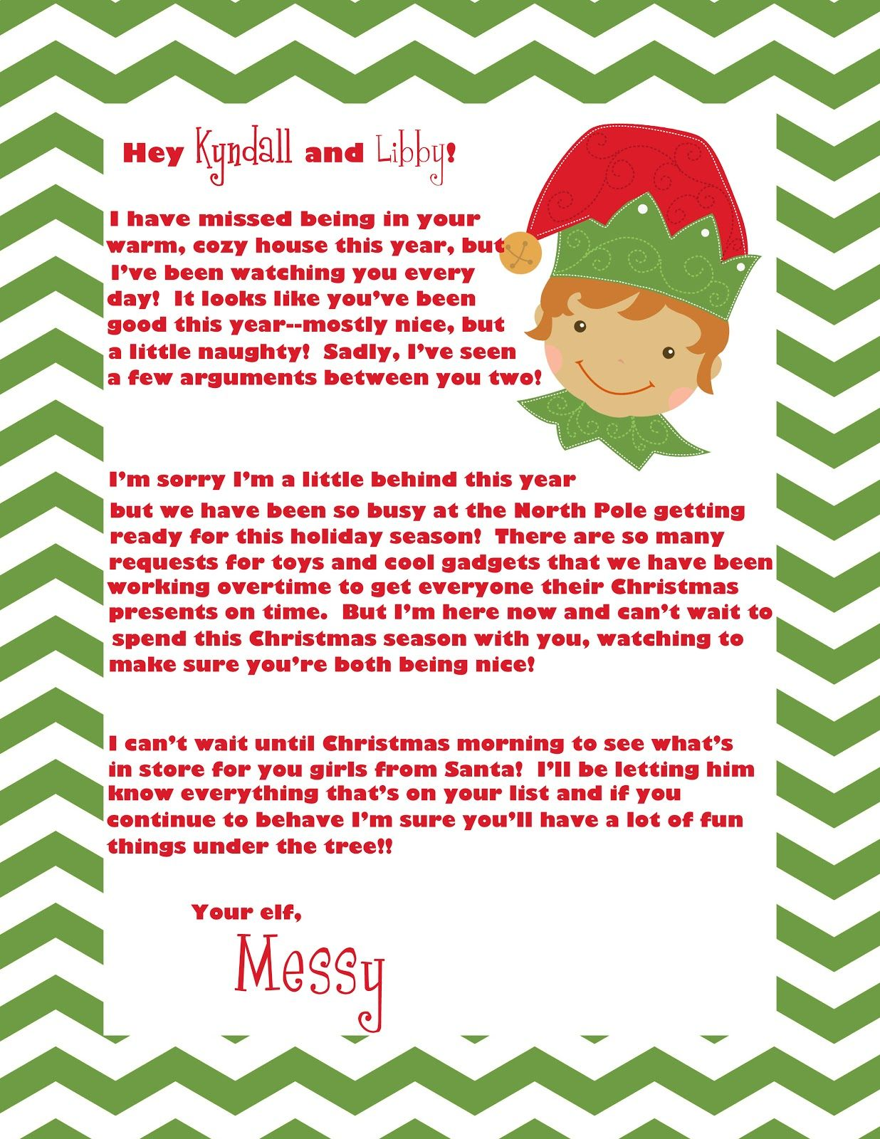 Elf On The Shelf Welcome Letter  Crazy Beautiful Life Elf On