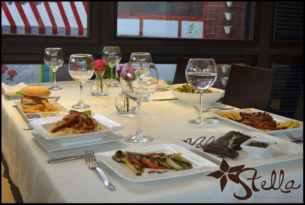 Hamburger... Risotto... Vegetales al Grill... Churrasco... Ensalada...   Todo esto y más lo podrás encontrar en Stella Mediterranean Style!