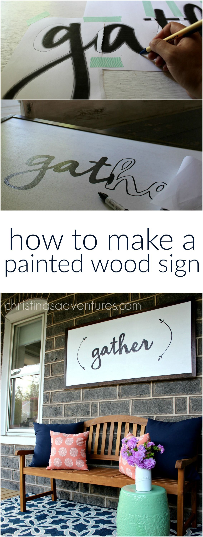 diy large wood sign tutorial amazing diy projects diy. Black Bedroom Furniture Sets. Home Design Ideas