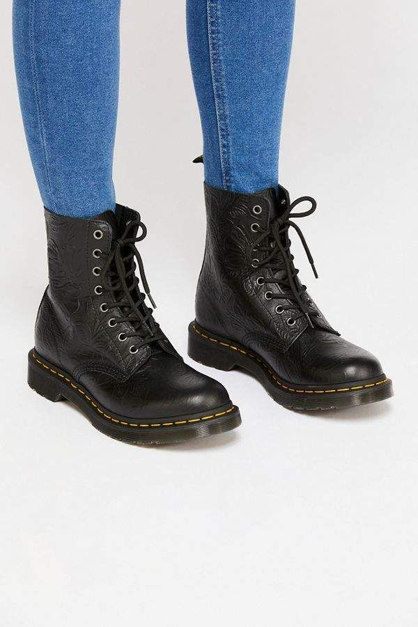 03b87d404e24 Dr. Martens 1460 Pascal Floral Embossed Boot in 2019 | boots | Boots ...