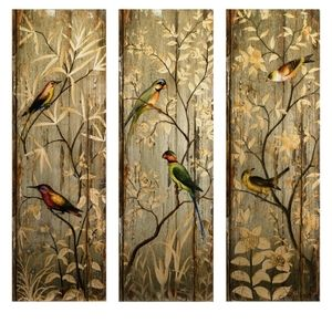 French Wall Art french country chic tuscan art wall décor panels |  rustic wood