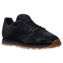 mens reebok classic leather embossed casual shoes