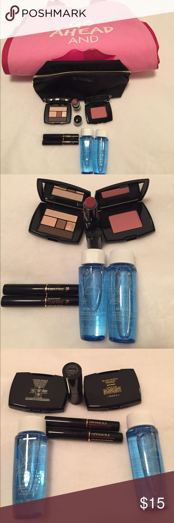 Lancôme Bundle Pack Tote Bag, Makeup Bag, & Swag Cream