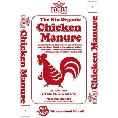 Niu 0 75 Cu Ft Chicken Manure 658576 The Home Depot Garden