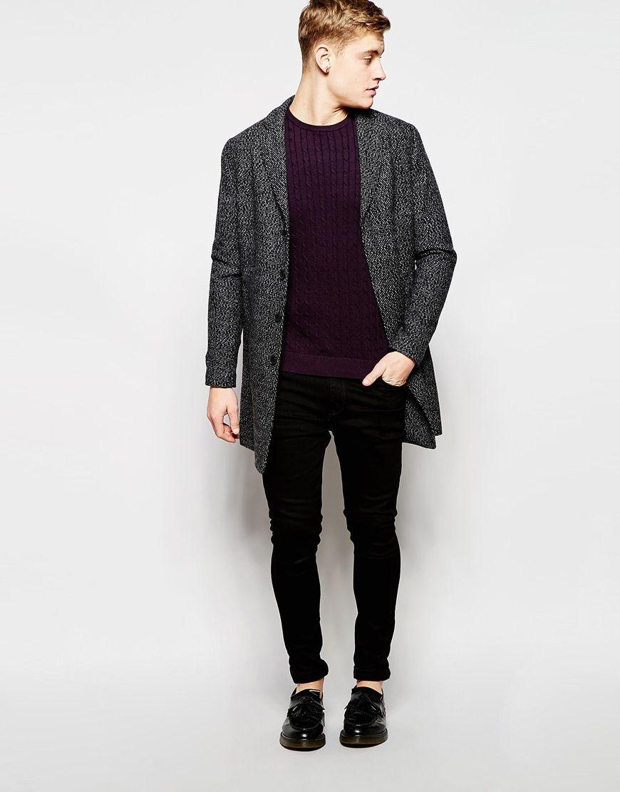 buy online a5757 4dab8 Image 4 of Jack & Jones Premium Wool Overcoat | Kelvin ...