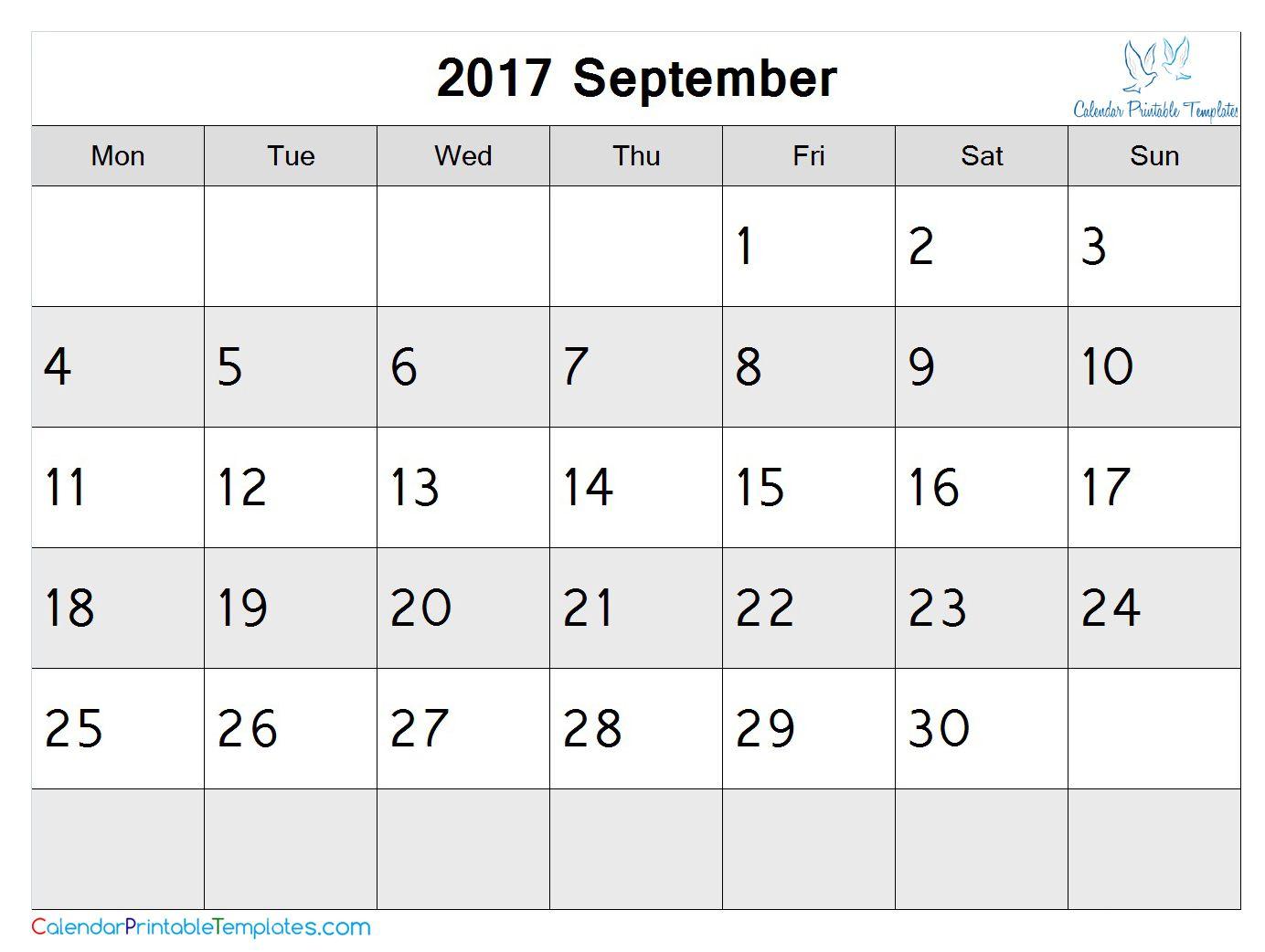 Pin By Calendar Printable On September 2017 Calendar May 2017