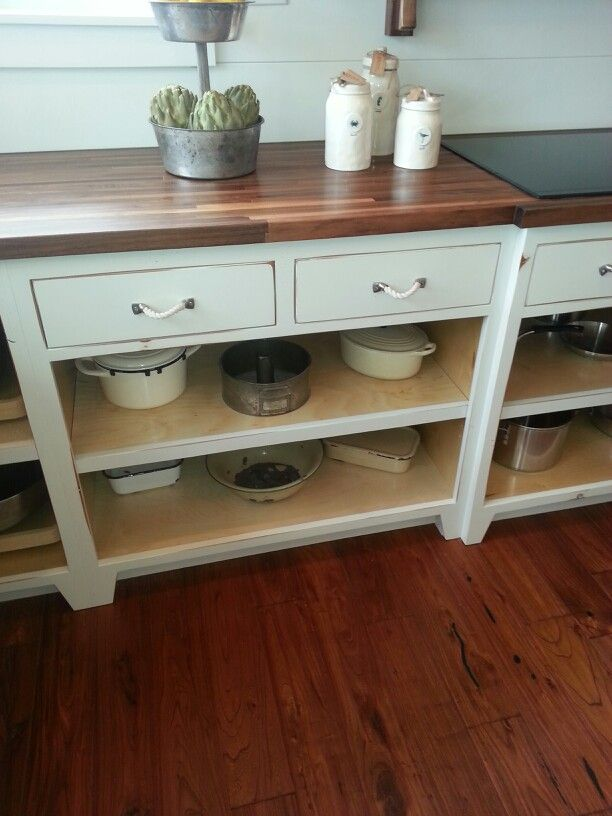 Open lower cabinet shelves (With images)   Kitchen cabinet ...