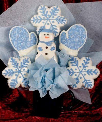 Let it Snow Cookie Bouquet