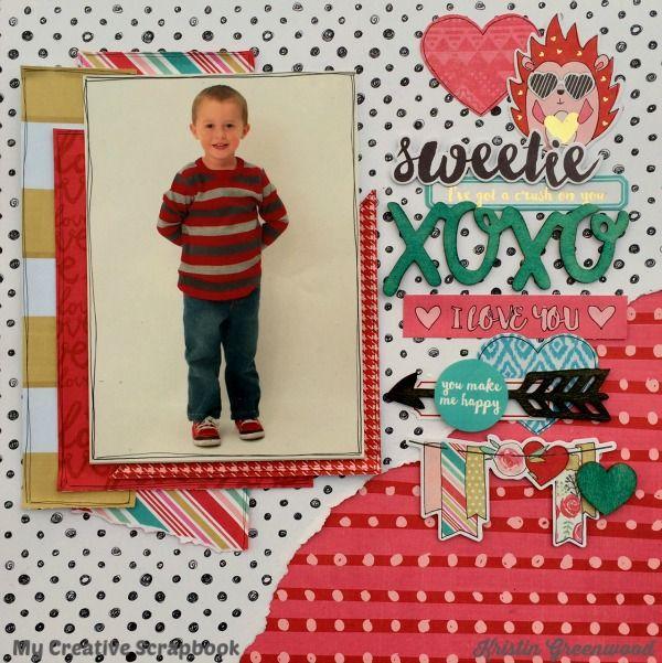 Sweetie+**My Creative Scrapbook February 2016 Main kit. We R Memory Keepers - Crush Collection - Ephemera