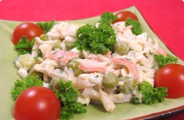 Смак салат с креветками