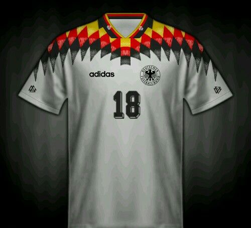 Germany Home Shirt For The 1994 World Cup Finals Esporte Futebol Selecao Alema