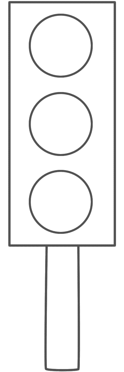 Traffic Light On A Post Coloring Page Safety Traffic Light Coloring Pages Stop Light