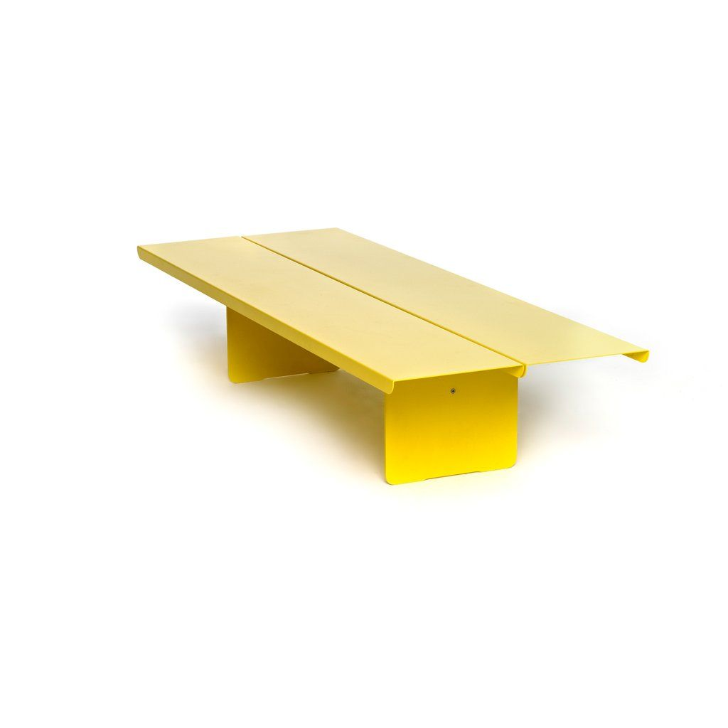 Flyover Coffee Table By Resident Horne 1500 Yellow Coffee Tables Folding Coffee Table Pedestal Coffee Table