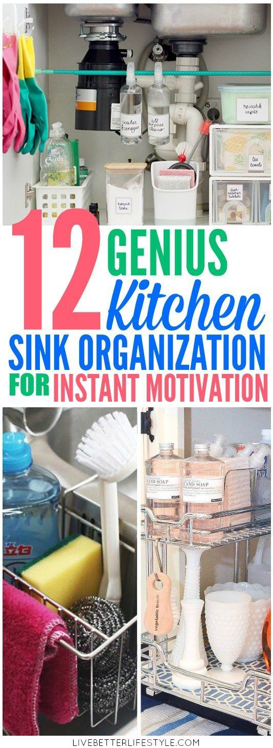 12 Amazing Kitchen Sink Organization Ideas You\u0027ll Regret Not Trying