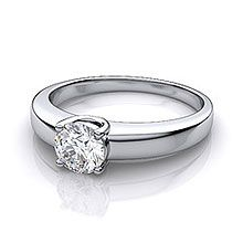 in trellis diamond ring rings platinum solitaire setting low round profile engagement