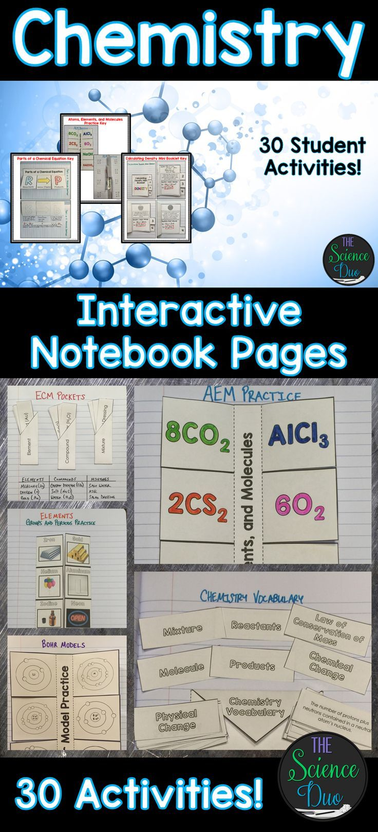 Chemistry interactive notebook pages science notebooks this resource contains 30 different interactive notebook activities covering atoms the periodic table physical and chemical changes urtaz Gallery