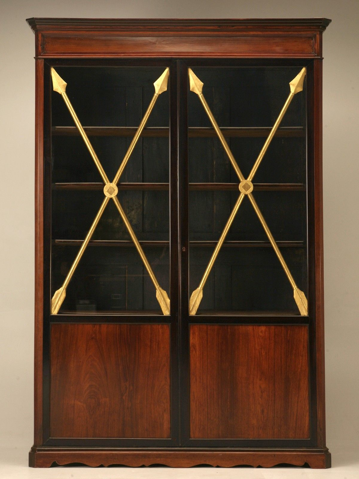 Antique French Directoire Cabinet w/Crossed Gilt Arrows