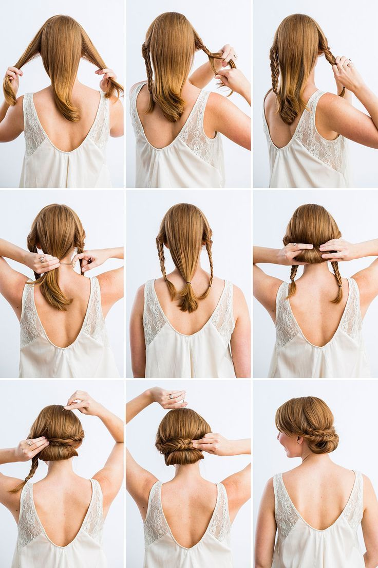 13 Updo Hairstyle Tutorials For Medium-Length Hair | Easy chignon ...