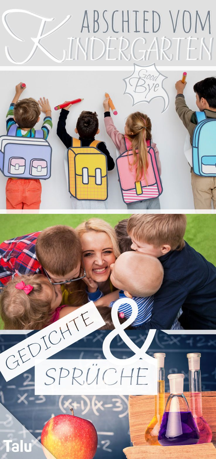 Abschied Vom Kindergarten Schone Gedichte Und Spruche Geschenk