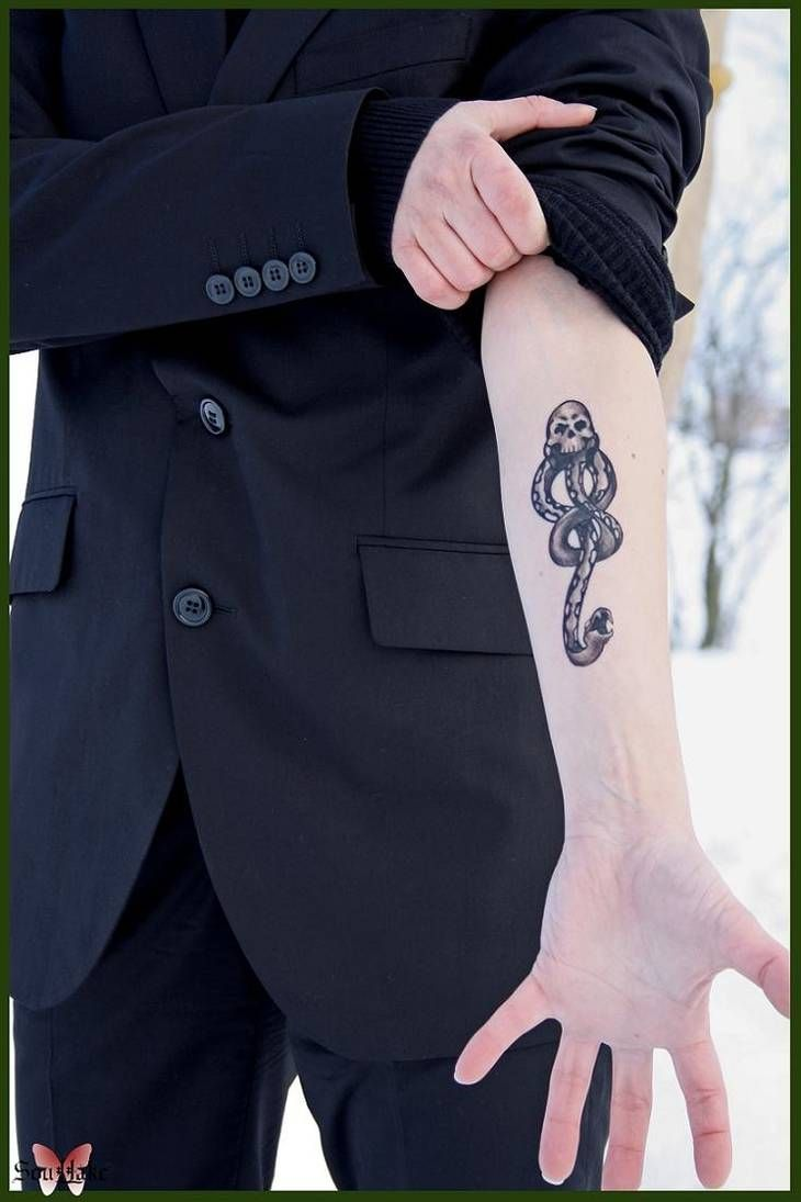 Draco Malfoy Dark Mark Tattoo by Blashina on DeviantArt
