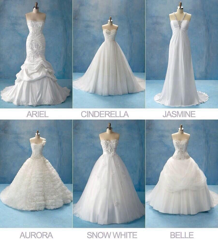 Disney Princess Wedding Dresses Omg I Love Cinderella Belle And