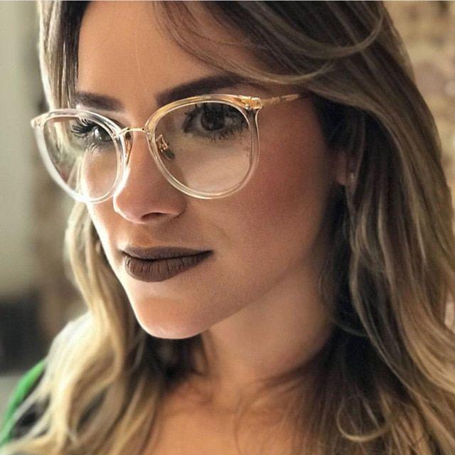 Photo of Neue Mode Gold Brille Rahmen Männer Frauen Brillen Vintage transparente Eyeglasse …
