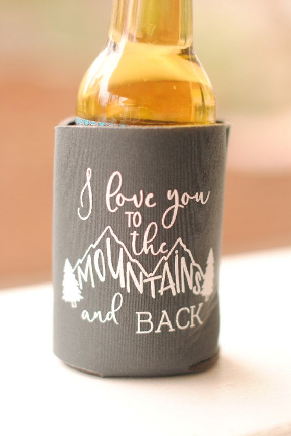 Fall Wedding Favors Personalized Rustic Mountain Wedding