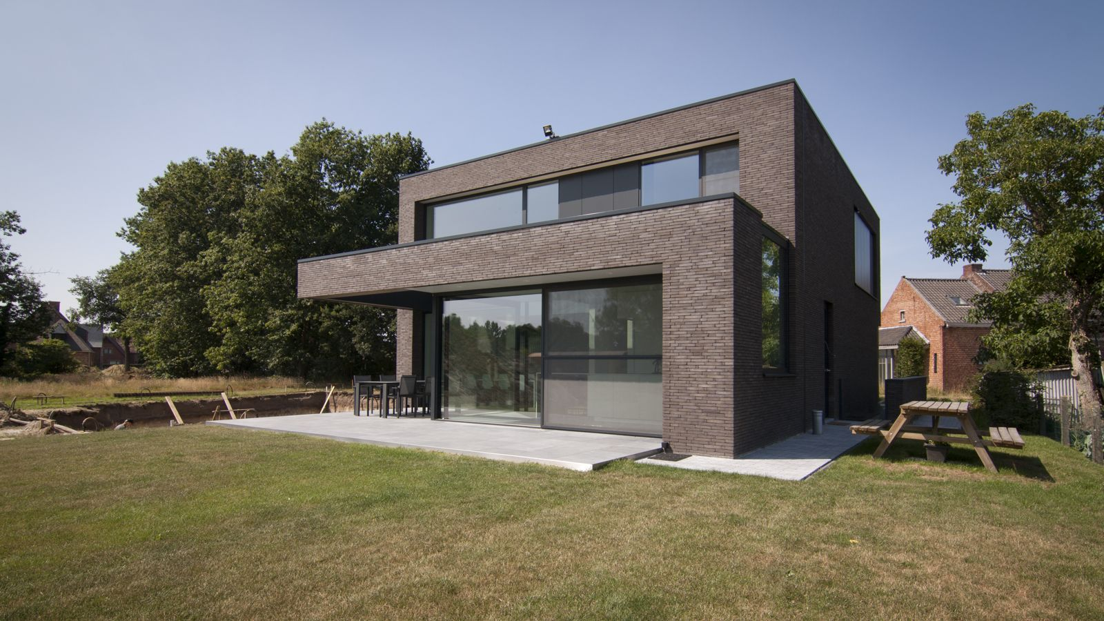 Block office architecten hedendaagse woning te linkhout strakke