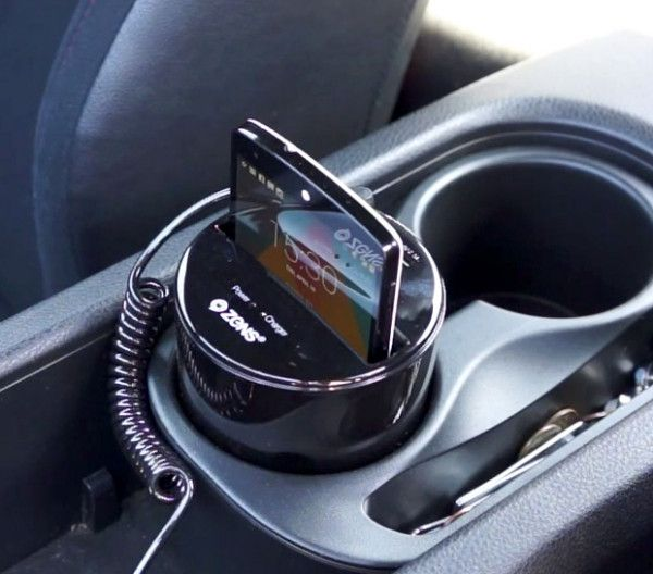 Zens Qi Wireless Car Charger Untangle Yourself From The Horrors Of Cables Wireless Charger Charger Car Car Gadgets