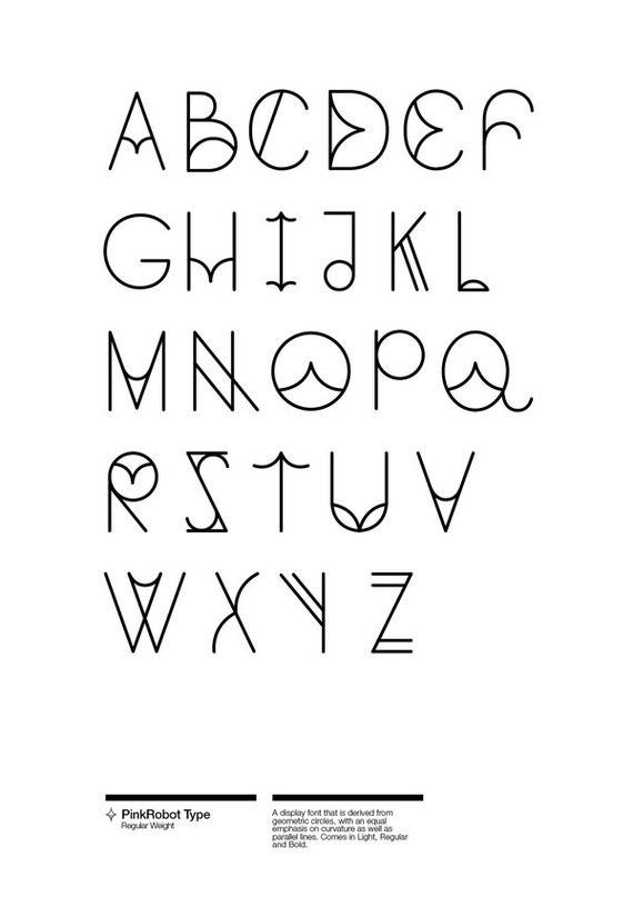 PinkRobot Typeface on Behance