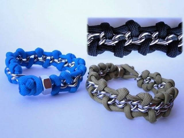 How To Make A Chain And Hex Nut Paracord Survival Bracelet