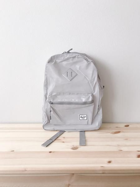 05c339c430e Heritage Backpack Youth - Silver Reflective Rubber Brand  Herschel Supply  Co. Description  Perfectly