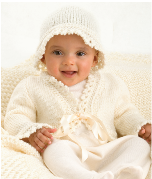 Lace Trim Jacket & Hat: #knit #knitting #free #pattern #freepattern #freeknittingpattern #knittingpattern