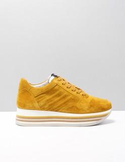 5209036 lage sneakers dames Geel Suede 005 Sierra Ananas ...