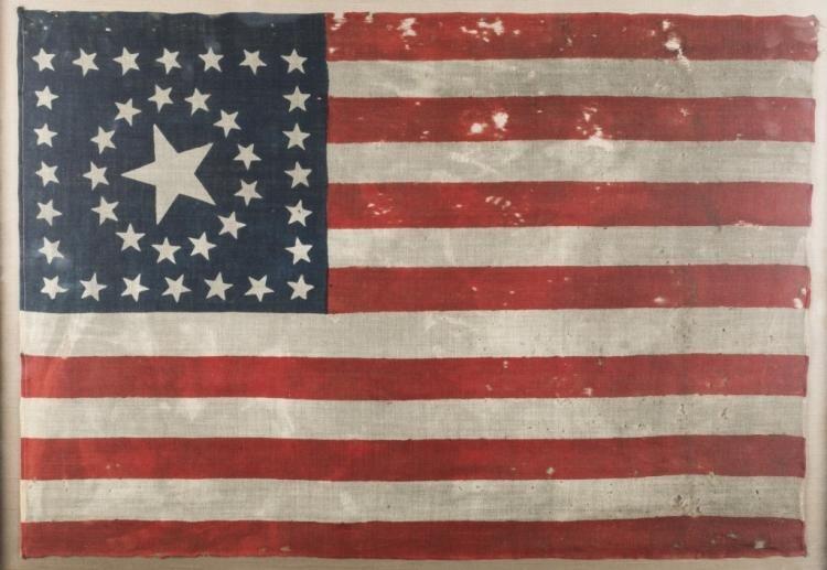 38 Star American Flag C 1876 American Flag Flag Stars