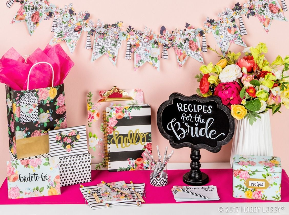 Baby Shower Decor Hobby Lobby ~ Diy your way to bridal shower perfection we turned ready to go