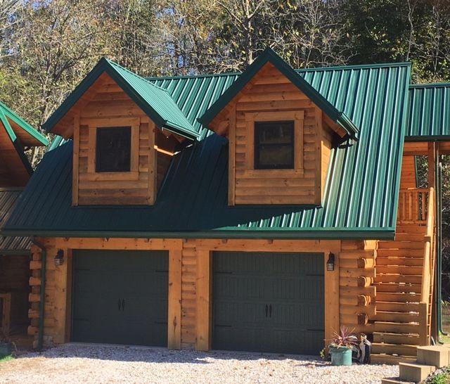 Log Garage Cottage Log Cabin Home Kits Cabin Homes Log Homes