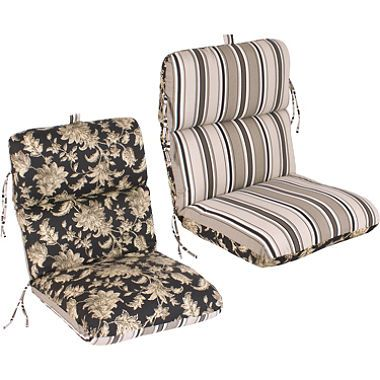 Replacement Patio Chair Cushion - Fallenton Coal/Armona Jet from ...