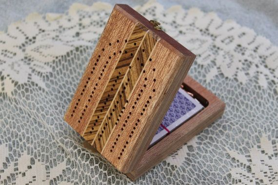 Continuous Track Folding Travel Cribbage Board By Grampatswoodshop Travel Cribbage Travel Cribbage Board Cribbage