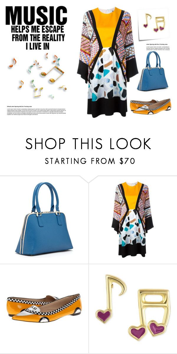 """Music"" by suelysara ❤ liked on Polyvore featuring Post-It, SUSU, MSGM, Kate Spade and Victoria Townsend"